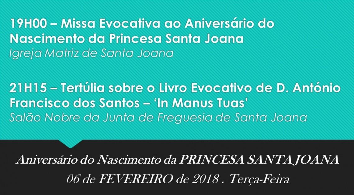 ANIVERSÁRIO DO NASCIMENTO DA PRINCESA SANTA JOANA