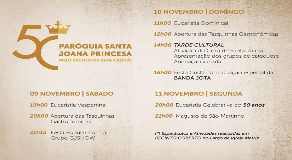 PARÓQUIA DE SANTA JOANA PRINCESA celebra 50 anos!