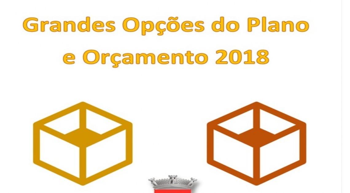 GRANDES OPÇÕES DO PLANO 2018